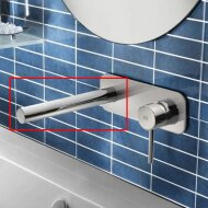 Losse uitloop Hotbath Buddy 15cm Recht model Rond Chroom Look B095/15CR