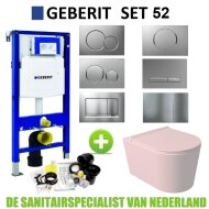 Geberit UP320 Toiletset Set52 Wandcloset Salenzi Civita Mat Roze Sigma Drukplaat