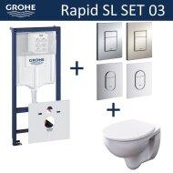 Grohe Rapid SL Toiletset set03 Geberit Econ II met Grohe Arena of Skate drukplaat