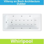 Ligbad Villeroy & Boch Architectura 170x75 cm Balboa Whirlpool systeem Dubbel | Tegeldepot.nl