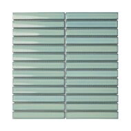 Mozaïek Sevilla Kit-Kat 29.6x29.9 cm Geglazuurd Porselein, Glanzend Turquoise (Prijs Per 0.89 m2)