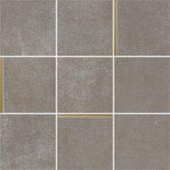 Mozaiek Arcana Avelin Niquel 30x30 cm Donker Grijs met Goud Detail (Doosinhoud 1.08m2)