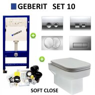 Geberit up100 set10 Carre met Delta drukplaten