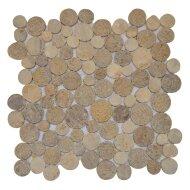 Mozaïek Coin Mix Onyx/Sunset Brown Marmer 30x30 cm (Prijs per 1m²)