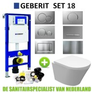 Geberit UP320 Toiletset set18 Wiesbaden Vesta Junior Rimless 47 cm met Sigma drukplaat