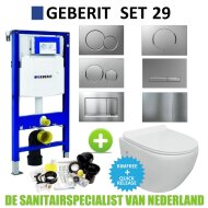 Geberit UP320 Toiletset set29 VM Go Aquaflow Randloos met Sigma drukplaat
