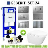 Geberit UP320 Toiletset set24 Wiesbaden Vesta Rimless 52 cm met Sigma drukplaat