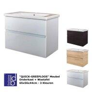 Badkamermeubel Best Design Quick-Greeploos 65x56x44cm Onderkast + Wastafel (3 kleuren)