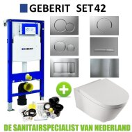Geberit UP320 Toiletset set42 Boss & Wessing Metro 56cm diep Met Sigma drukplaat