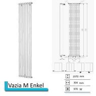 Designradiator Vazia M Enkel 1970 x 304 mm Donker grijs