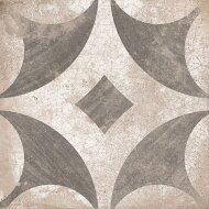 Vloertegel Ravena Grijs Bloem motief 22,5 x 22,5 cm (doosinhoud: 1 m2)