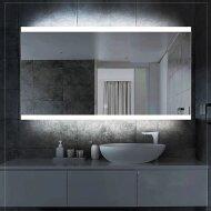 Badkamerspiegel Boss & Wessing Riga met LED Verlichting en Spiegelverwarming 80x70 cm