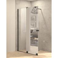 Inloopdouche met Schuifdeur BWS Pure Day 120x200 cm Links Spiegelglas Zwart