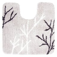 Toiletmat Differnz Leaf Antislip 60x60 cm Microfiber Grijs