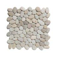 Mozaïek Natural Stone 30x30 cm Ongeïmpregneerd Kiezels En Tan (Prijs Per 1.00 m2)