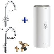 Kokendwaterkraan Grohe Red New L Size Boiler MONO of DUO (RVS of Chroom) C Uitloop