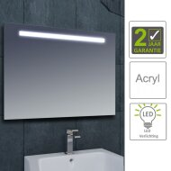 BWS LED Spiegel Tigris met Lichtschakelaar 120x80x3.1 cm (incl bevestigingsmateriaal)