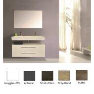 Badkamermeubelset Sanicare Q17 100 cm (in 5 kleuren leverbaar, spiegel optioneel)