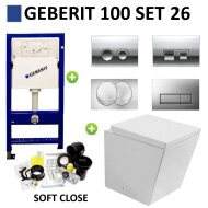 Geberit UP100 Toiletset set26 Best Design Schnell met Delta drukplaat