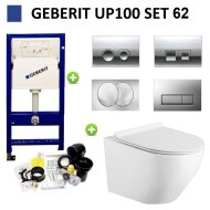 Geberit UP100 Toiletset Randloos Mudo Set62 met Delta Drukplaat