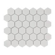 Mozaïek Barcelona 28.1x32.5 cm Geglazuurd Porselein Hexagon Glanzend Extra Wit (Prijs Per 0.91 m2)