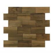 Wandtegels Wood Panels 30x30 cm Old Teakwood