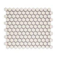 Mozaïek Barcelona 26x30 cm Geglazuurd Porselein Hexagon Mat Wit (Prijs Per 0.78 m2)