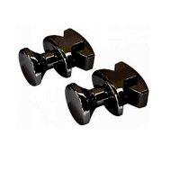 Handdoekknop voor Designradiator Creavit Nile Gobi Zwart (2 stuks)