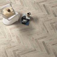 Vloertegel Jos Strucco Plaster Wood 6.5x40 cm White (doosinhoud 0.83 m2)