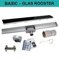 RVS Douchegoot BASIC met uitneembaar sifon GLAS ROOSTER BWTP/DRGLASBASIC