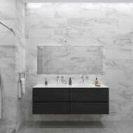 Badkamermeubelset Gliss Zeus 160 cm Zwart Eiken