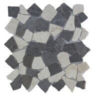 Mozaïek Y Mix Gray/Cream Marmer 30x30 cm (Prijs per 1m²)