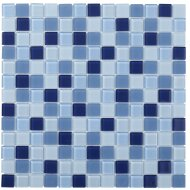 Mozaïektegel The Mosaic Factory Montreal Vierkant 23x23 mm Blauw Mix