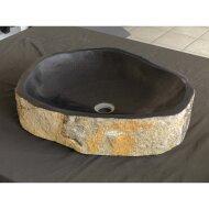 Waskom Imso Lavabo Pilar Stone Lava steen 40x60x13cm