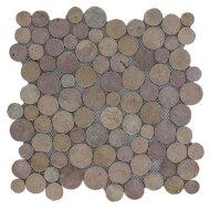 Mozaïek Coin Yucatan Brown Marmer 30x30 cm (Prijs per 1m²)