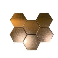 Wandtegels Hexagon 15x17 cm Dark Gold