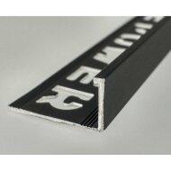 Tegelprofiel LYNOX Rechthoekig Gecoat Mat Zwart (6 t/m 12,5 mm x 2700 mm)