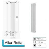 Handdoekradiator Aika Retta 1800 x 295 mm Zandsteen