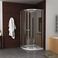 Douchecabine Boss & Wessing Kwartrond 100x100x190 cm 5 mm Helder Glas Chroom