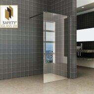 Wiesbaden Safety Glass 2.0 Inloopdouche met Zwart Muurprofiel 1200x2000 10mm NANO glas
