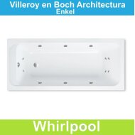 Ligbad Villeroy & Boch Architectura 170x80 cm Balboa Whirlpool systeem Enkel | Tegeldepot.nl