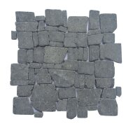 Mozaïek Random Black Gray Lava/Riverstone 30x30 cm (Prijs per 1m²)