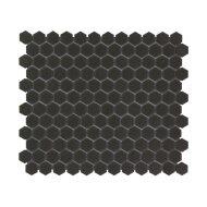 Mozaïek London 26x30 cm Onverglaasd Porselein Hexagon, Mat Antislip En Zwart (Prijs Per 0.78 m2)