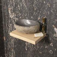 Fonteinset BWS met Fonteinplank Rond 25x25 cm Natuursteen Grijs