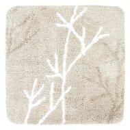 Badmat Differnz Leaf Antislip 60x60 cm Microfiber Beige