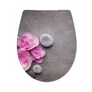 Toiletzitting Cedo Orchid en Stones Softclose Grijs
