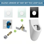Urinoir Set Salenzi Hung Achterinlaat Mat Wit met TECE Loop Drukplaat Glas