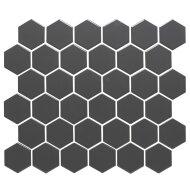 Mozaïektegel The Mosaic Factory Barcelona Hexagon 51x59 mm Porselein Donkergrijs