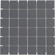 Mozaïek London 30.9x30.9cm Onverglaasd Porselein, Mat Antislip En Antraciet (Prijs Per 0.96 m2)