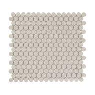 Mozaïek London 31.5x29.4 cm Onverglaasd Porselein Rond, Mat Antislip En Wit (Prijs Per 0.93 m2)